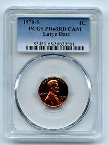 1970 S 1C Lincoln Cent PCGS PR68CAM