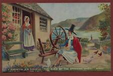 Welsh. The Maid by the Spinning Wheel. Valentine's   postcard   ca.15