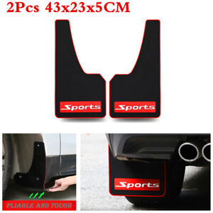 2X Soft Rubber Car Splash Guards Mudguards Mud Flaps Fenders +Screws Accessories