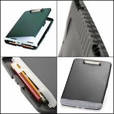 Clipboard Storage Case Box Plastic Folder Document Organizer Compartment Office