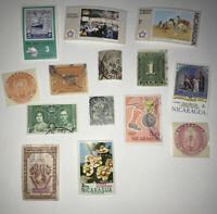 Small Lot of 1900's Used & Mint NICARAGUA Postage Stamps - Unsorted Mixed Lot