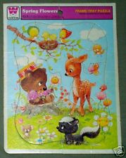 WHITMAN TRAY PUZZLE Spring Flowers 1979 Western