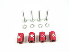 "1"" BILLET HOOD VENT SPACER SPACERS KITS RED FOR 8MM TURBO ENGINE ALL M​OTOR SWAP"
