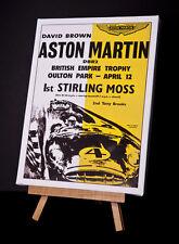 ASTON MARTIN / moss (y) Toile imprimer étirées et encadrées