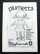 F263-Advertising Pubblicità-1975-MIGLIORATI PIUMETTA LE BAMBOLE DEI SOGNI