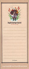 English Springer Spaniel Dog Funny Friends Magnetic Notepad List Pad