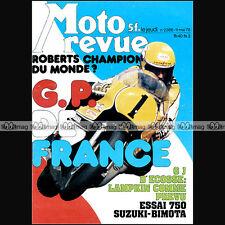 MOTO REVUE N°2365-b BIMOTA 750 SB2 KENNY ROBERTS SCOTTISH 6 DAYS GRAND PRIX 1978
