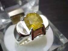 Natural Yellow Sapphire Mens Ring Pukhraj Ring Handmade