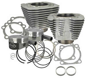 S&S 1250cc Conversion Kit 10.3 Compression Silver 1986-Up Sportster XL 910-0433