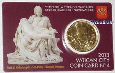 COIN CARD (50 cent) VATICANO 2013 VATIKAN VATICAN BU  Official Coincard N°4 euro