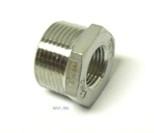 "2-1/2"" X 2"" 150# Cast Threaded (NPT) Hex Bushing 304 Stainless Steel <SS12100941"