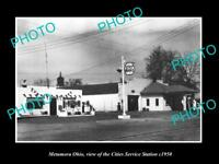 OLD LARGE HISTORIC PHOTO OF METAMORA OHIO, THE CITIES OIL SERVICE STATION c1950