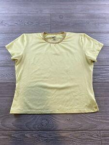 Patagonia Base Layer, Yellow  crew neck Short Sleeve, Polyester, Capilene Medium