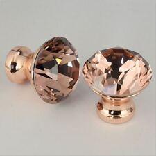 1Pcs DIY Unique Color Pull Handle Rose Gold K9 Crystal Cabinet Drawer Door Knob