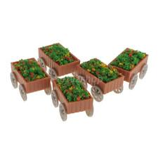 5x Hochbeet Blumenkasten Pflanzkübel Kräuterbeet Gartenbeet Eisenbahn Modell