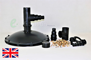 WEIGHTED SUCTION DOME PORTABLE RETRO FIT BOTTOM DRAIN SKIMMER KOI FISH POND TANK