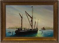 Diana Parks - Framed 20th Century Oil, Leaving Port