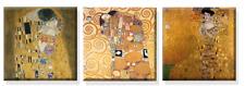 TIME4BILD GUSTAV KLIMT Adele Bloch Baum des Lebens Kuss 3 BILDER 50x50 LEINWAND