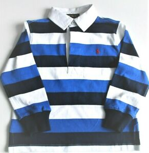 Boys Ralph Lauren Cotton Navy Blue Rugby Shirt 2yr to 14-16 years CLEARANCE