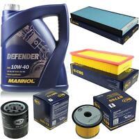Ölwechsel Set 5L MANNOL Defender 10W-40 Motoröl + SCT Filter KIT 10132923