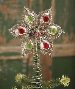 Mercury Glass Indent Star Tree Topper