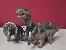 """Toy Major Dinosaur Lot T-Rex 12"""" Triceratops 16"""" Long Stegosaurus 19"""" Long 2012"""