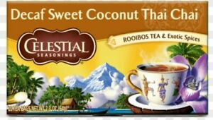 CELESTIAL SEASONINGS Decaf Sweet Coconut Thai Chai Tea - 1 Box (20 Bags)