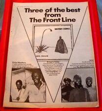 Virgin Front Line Abyssinians/G.Isaacs Vintage ORIG '78 Press/Mag AD Poster-Size