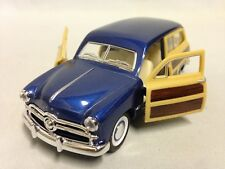 """1949 Ford Woody Wagon 5"""" DieCast PullBack Collect Action 1:40 Kinsmart Toy Blue"""