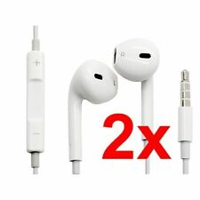 Double Mobile Phone Headsets for Apple with Volume Control