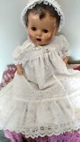 "Vintage large composition baby doll UNMARKED  24""1930,s"