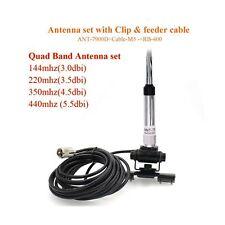 Mobile Radio Quad Band Antenna 144/220/350/440MHz for QYT KT-7900D Car Mobile...