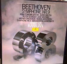 DG Box 2 LP Stereo 2707 109 Beethoven 8 & 9 Symphonies Von Karajan NM/NM