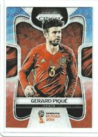 2018 Panini Prizm World Cup Soccer Gerard Pique (Spain) Blue & Red Wave PRIZM