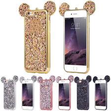 Bling MICKEY oreille résistant aux chocs DOUX tpu gel Coque Pour Iphone 5 6 7 X