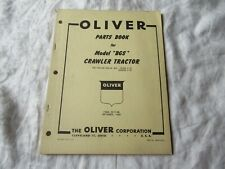 Oliver Bgs Crawler Tractor Parts Book Catalog Manual
