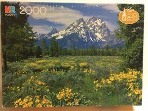 1986 Grand Teton National Park Wyoming Super Big Ben 2000 pc. MB Puzzle 4565-12
