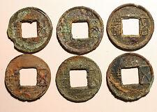 Lot of 6 Wu Zhu. Lotto 6 monete cinesi Wu Zhu. #au253