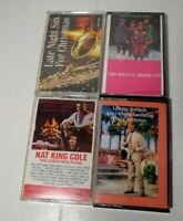 4 Lot Christmas Cassette Nat King Cole Sax Kostelanetz Tolbert Vintage 80s 90s