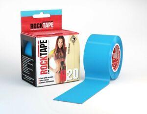 RockTape H2O Extra Sticky Kinesiology Tape 5cmx5mtr - Blue - 1st Class Post
