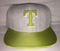 Vtg Texas Rangers Snapback hat cap MLB sga alternate heather lime darvish beltre