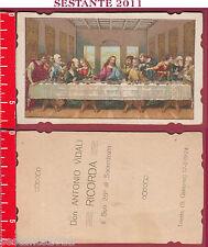 2711 SANTINO HOLY CARD GESù CRISTO ULTIMA CENA EUCARESTIA SACERDOZIO TRIESTE