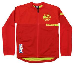 Adidas NBA Youth Boys (8-20) Atlanta Hawks On Court Full Zip Jacket, Red