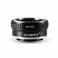 Beschoi OM-NEX Lens Adapter Ring Olympus OM Lens to Sony NEX E-Mount Camera Body