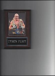 TYSON FURY PLAQUE BOXING CHAMPION WITH BELTS