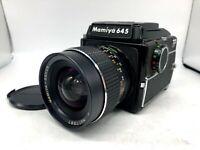 ✈︎FedEx【EXC+5】Mamiya M645 Waist Level Finder + Sekor C 45mm F2.8 Lens From JAPAN