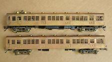 Ken Kidder 2050 2051 Subway Car With Motor & Trailer RARE Unpainted Brass HO