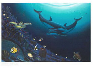"WYLAND ""OCEAN REEF LIFE"" NEW S/N LITHOGRAPH WITH COA"