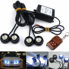 4X LED Eagle Eye Knight Night Rider Scanner Lighting DRL With Remote For Nissan
