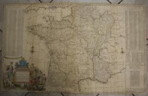 FRANCE KINGDOM OF FRANCE 1720 HERMANN MOLL VERY LARGE ANTIQUE COPPER ENGRAVEDMAP